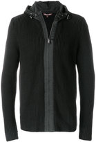 Michael Kors ribbed hooded zipped sweater