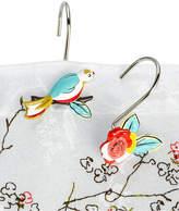 Lenox Simply Fine Bath Accessories, Chirp Shower Curtain Hooks, Set of 12 Bedding
