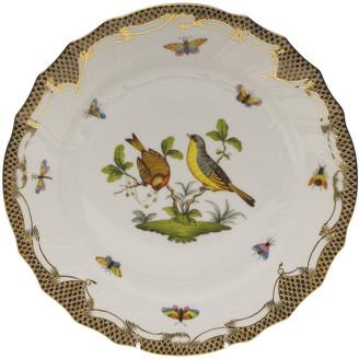 Herend Rothschild Bird Brown Motif 07 Dinner Plate