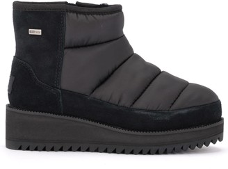 UGG Ridge Black Ankle Boot In Suede And Waterproof Fabric