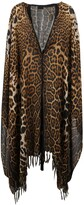 Thumbnail for your product : Saint Laurent Fringed Leopard Print Poncho