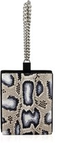 Calvin Klein Collection Mineral Spotted Python Chain Wristlet