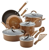 Rachael Ray Cucina Hard Porcelain Enamel Non-Stick Cookware Set (12 PC)
