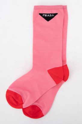Prada Logo Crew Socks