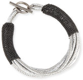 Brunello Cucinelli Metallic Leather Bracelet w/Monili Strands