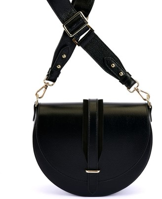 Atelier Hiva Arcus Leather Bag Black & Black Suede