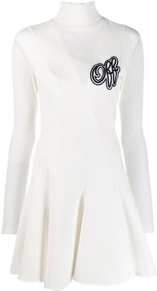 Off-White logo flared dress