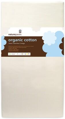 Naturepedic Organic Cotton Classic Seamless 150 Coil 2-Stage Crib Mattress