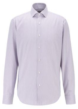 HUGO BOSS Regular Fit Shirt In Thermo Regulating Fabric - Purple