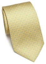 Salvatore Ferragamo Gancini Diamond Silk Tie