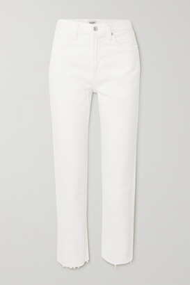 Citizens of Humanity - Daphne Cropped High-rise Straight-leg Jeans - White