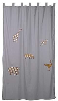 Taftan Curtain with Hanging Loops, Safari