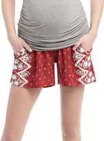 Motherhood Secret Fit Belly A-line Maternity Shorts