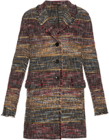 Etro Notch-lapel fray-trimmed coat