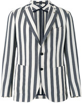 Tagliatore striped blazer - men - Cotton/Linen/Flax/Polyamide/Cupro - 48