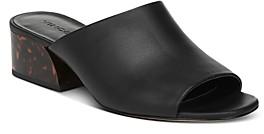 Vince Women's Jestin Tortoise Print Block-Heel Slide Sandals