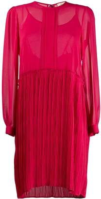 Semi-Couture Semicouture sheer pleated-skirt dress