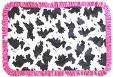 Patricia Ann Designs Hot Pink Swirl Stroller Blanket