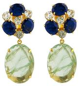 Bounkit Lapis, Blue Quartz, & Fluorite Converitble Earrings