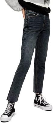 Topshop Straight Leg Crop Jeans