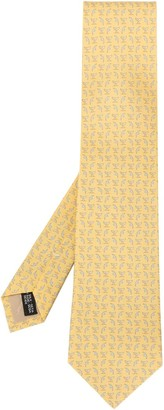 Salvatore Ferragamo Dolphin Tail And Bird Print Tie
