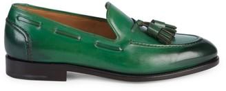 Salvatore Ferragamo Mario Double Tassel Leather Loafers
