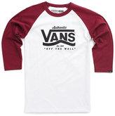 Vans Boys Authentic Stripe Baseball Tee