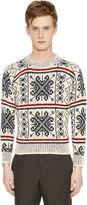 Thom Browne Wool & Mohair Jacquard Sweater