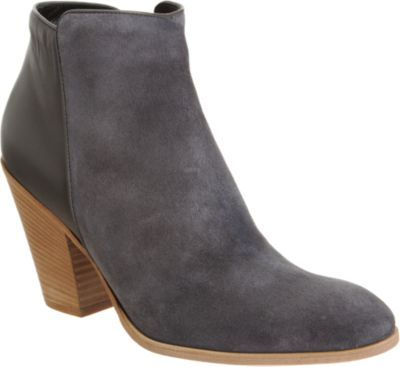 Barneys New York Combo Chunky Heel Ankle Bootie 80