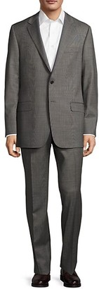Hickey Freeman Milburn II Classic Fit Textured Wool Suit