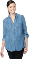 Motherhood Wendy Bellissimo Back Interest Chambray Maternity Shirt