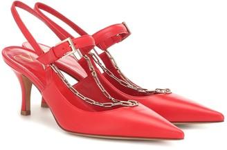 Valentino Chain leather pumps