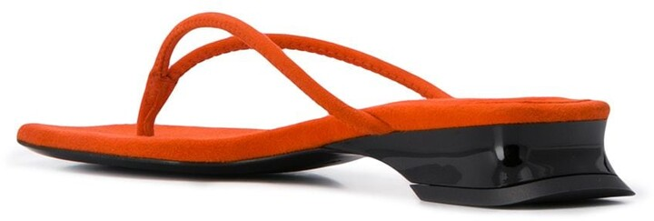 Thumbnail for your product : Dorateymur Square Tip Flip Flops