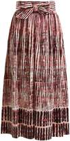 Goat Faro Batik striped stretch-cotton skirt