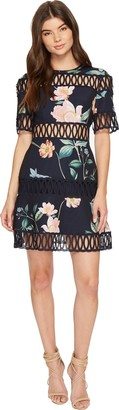 Keepsake Women's Whispers Floral Print Fit and Flare Dress