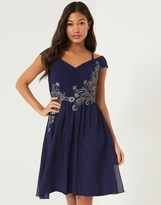 Little Mistress Embellished Bardot Prom Dress