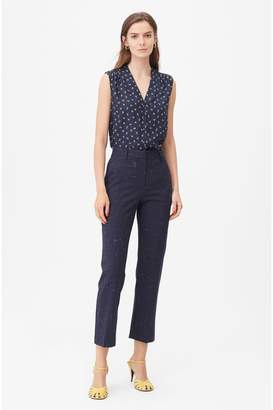 Rebecca Taylor Tailored Cross Hatch Suiting Pant