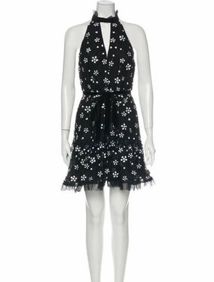 Alexis Printed Mini Dress w/ Tags Black
