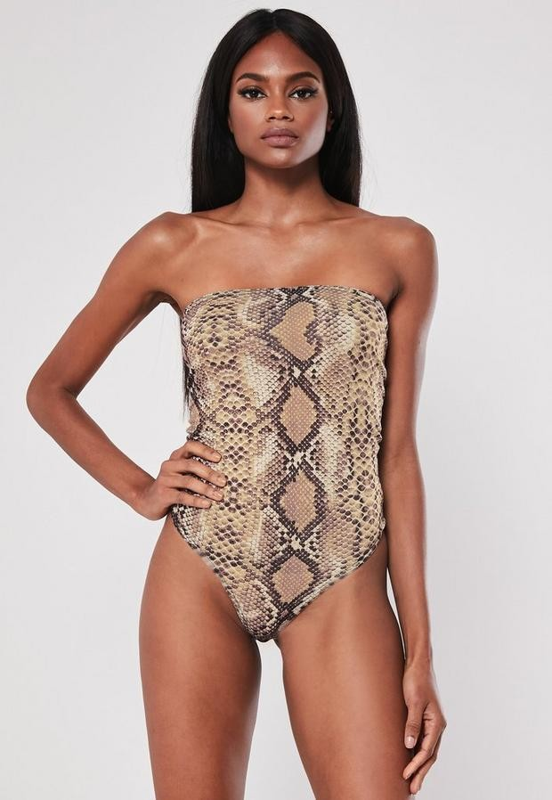 a722095134ce Nude Bandeau Top - ShopStyle