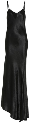 Ann Demeulemeester Asymmetric satin slip dress