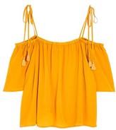 Madewell Women's Cold Shoulder Silk Top