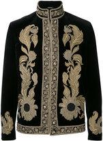 Alexander McQueen embroidered trim jacket - men - Cotton/Viscose - 48