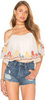 Tularosa Amelia Crop Top in Ivory. - size S (also in )