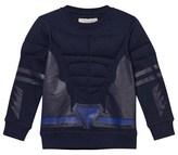 Stella McCartney Navy Padded Superhero Rowbow Sweater