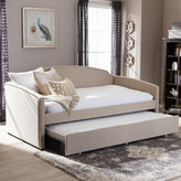Baxton Studio Lanny Sofa Twin Daybed & Trundle