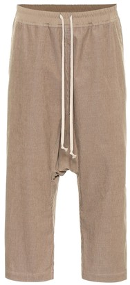 Rick Owens Cropped cotton trackpants