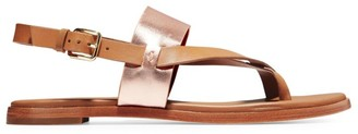 Cole Haan Anica Leather Slingback Thong Sandals