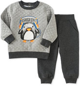 Kids Headquarters 2-Pc. Quilted Penguin Sweatshirt & Pants Set, Baby Boys (0-24 months)