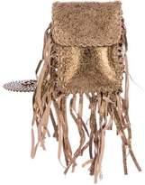 Cleobella Metallic Suede Crossbody Bag