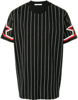 Givenchy striped star-sleeve T-shirt